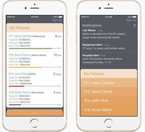 Patientendaten auf dem iPhone