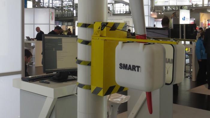 Hannover Messe: Roboter soll Windräder direkt vor Ort reparieren