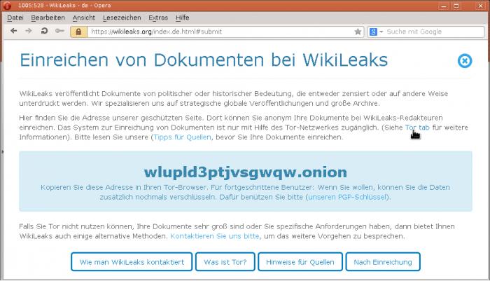 Aufruf-Anleitung: WikiLeaks-Uploadskript