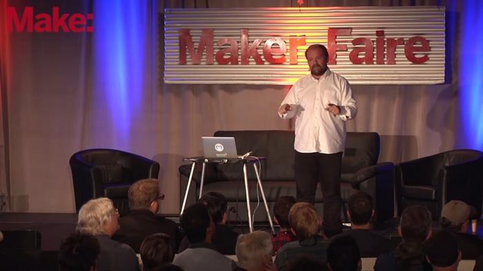 Massimo Banzi auf der Maker Faire Bay Area