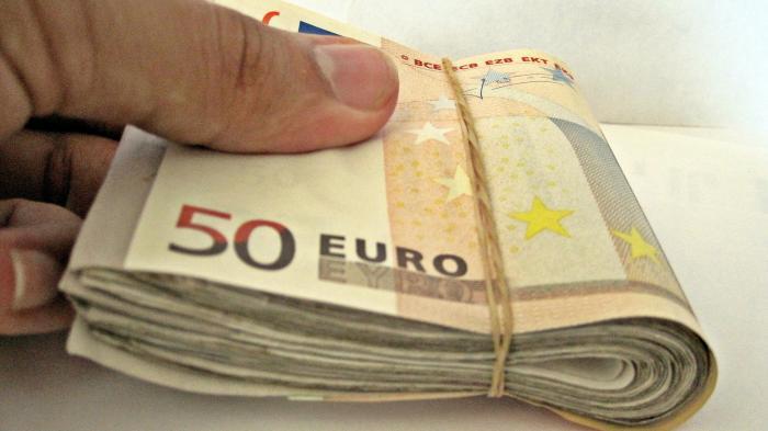 Bündel von 50-Euro-Scheinen