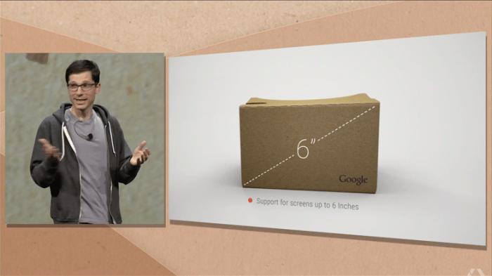 Neue Cardboard-Brille mit Knopf und Phablet-Unterstützung
