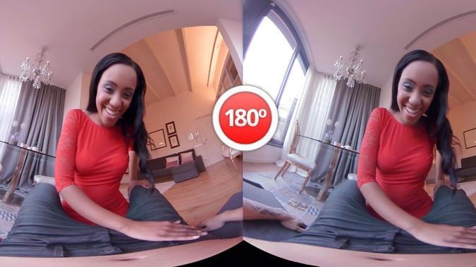 So sieht das Videobild ohne Virtual-Reality-Brille aus; setzt man das Headset auf, wird's räumlich. (Bild: Screenshot von virtualrealporn.com)