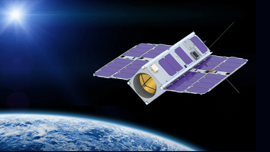 Nanosatellit im Weltraum