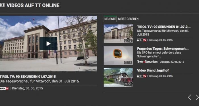 Website Tiroler Tageszeitung
