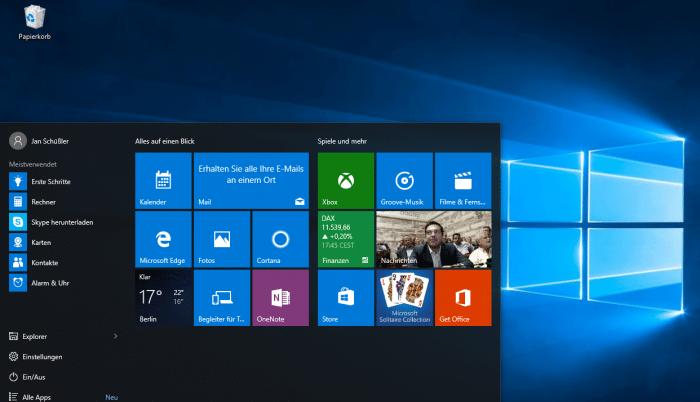 Let's Play: Eine Tour durch Windows 10
