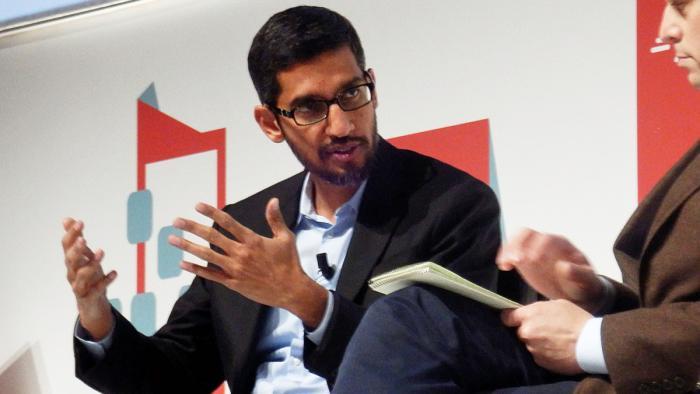 Google-Manager Sundar Pichai auf dem MWC 2015.