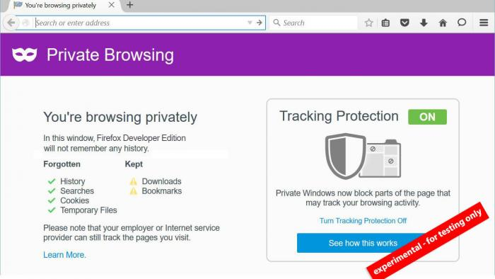 Firefox testet verbesserten privaten Modus