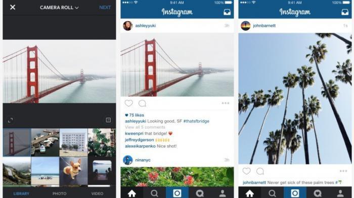 Instagram erlaubt beliebige Bildformate