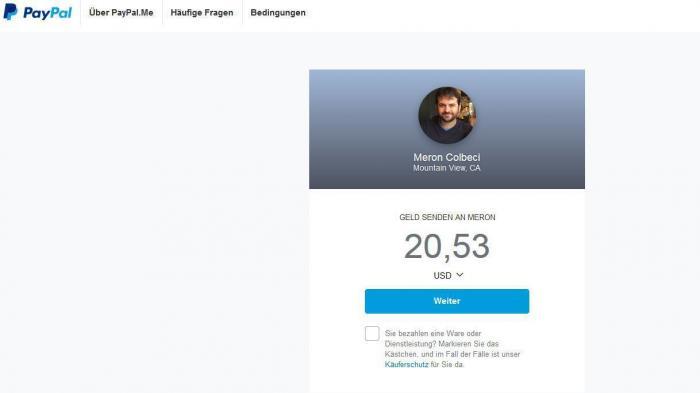 Paypal.me: Geld anfordern per Link