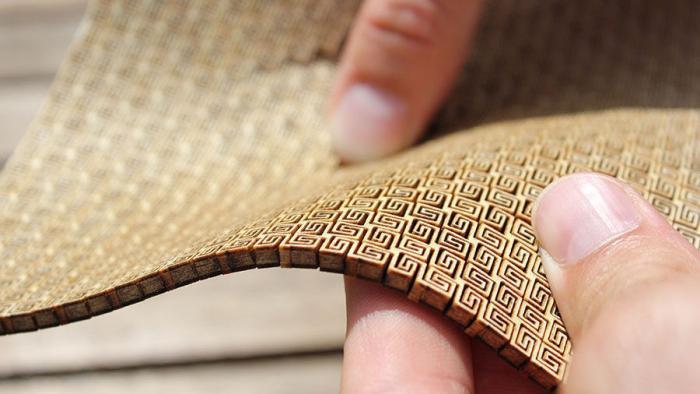 der lasercutter trick so l sst sich sperrholz in wellen legen make. Black Bedroom Furniture Sets. Home Design Ideas
