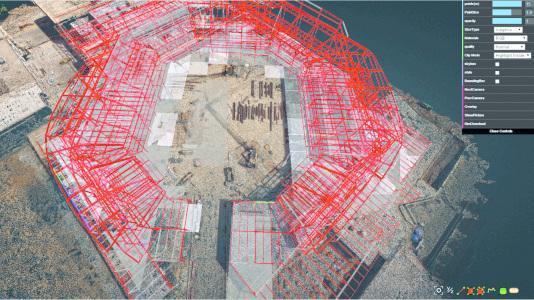 Drohnen überwachen Stadionbaustelle