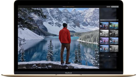 Fotos-App auf einem MacBook Retina