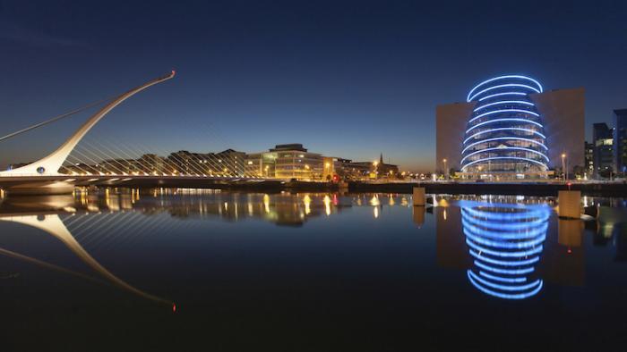 Dublin der blauen Stunde