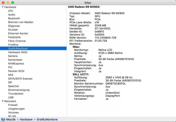 Im Falle von 10-Bit-Unterstützung finden Sie In den Systeminfos unter Grafik/Monitore unter Pixeltiefe den Eintrag: 30-Bit-Farbe (ARGB2101010).