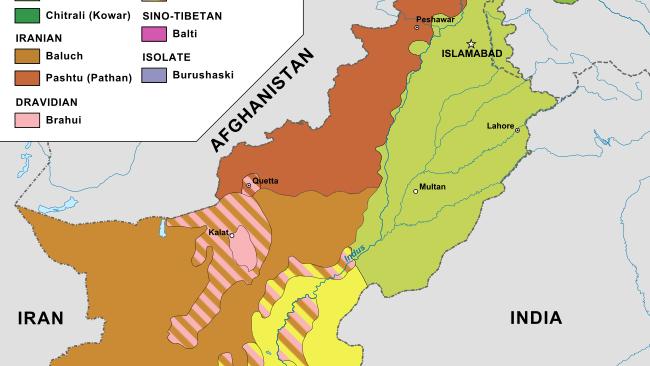 Pakistan-Karte