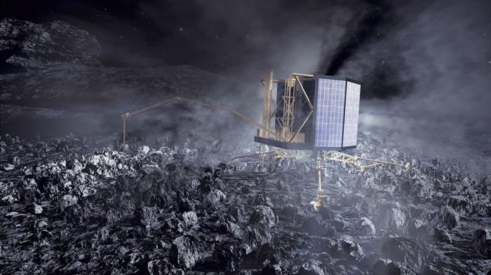 Künstlerische Darstellung von Philaes dem Kometen