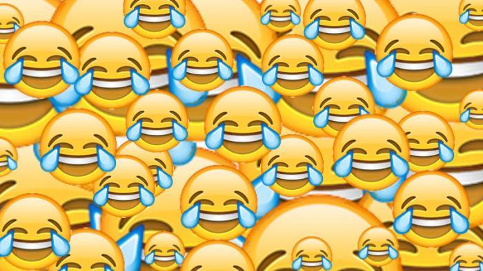 Viele lachende Emojis