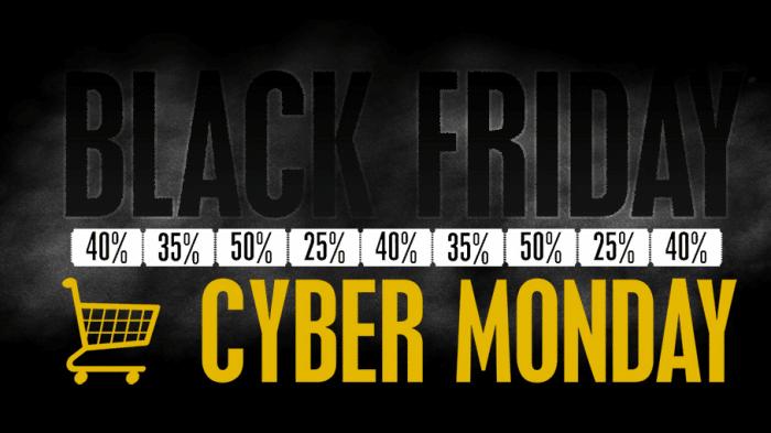 Black Friday, cyber monday