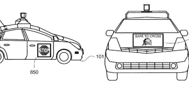 Google-Patent: Autonome Autos informieren Fußgänger