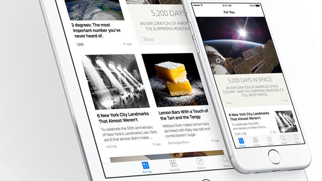 Apple News: Vorinstalliert zur alltäglichen Nutzung