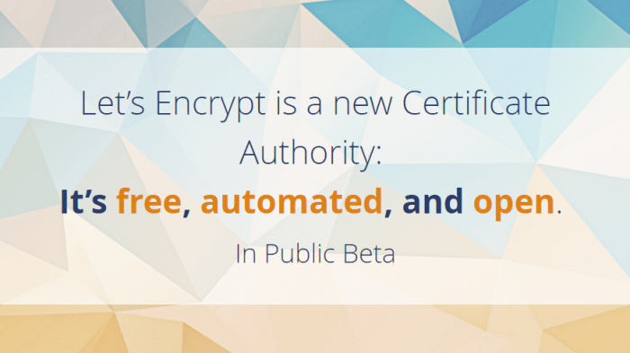 Let\'s Encrypt startet öffentliche Beta: Kostenlose SSL/TLS ...