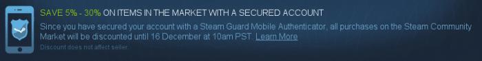 Nutzer, die ihr Steam-Konto mit Multifaktor-Anmeldung absichern, erhalten momentan Rabatte beim Kauf virtueller Gegenstände. Valve will so möglichst viele Spieler dazu bewegen, es den Gaunern so schwer wie möglich zu machen.