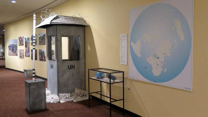 UN-Wächterhäuschen mit Schlagbaum