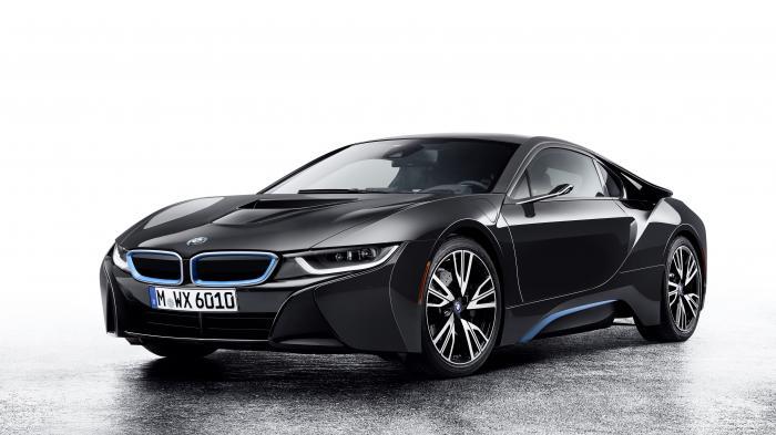 BMW Sportwagen ohne Rückspiegel