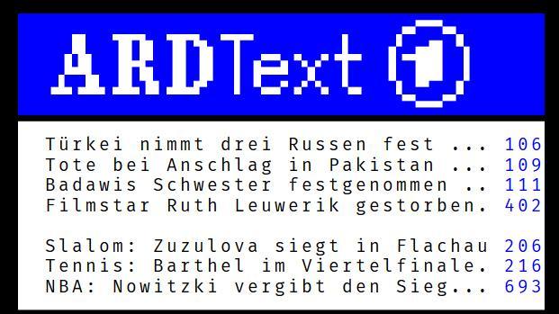ARD Text bleibt der beliebteste Videotext