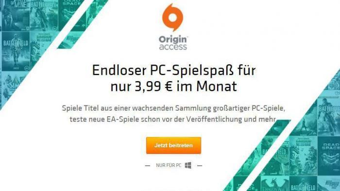 Origin Access: Electronic Arts bringt Flatrate für PC-Spieler