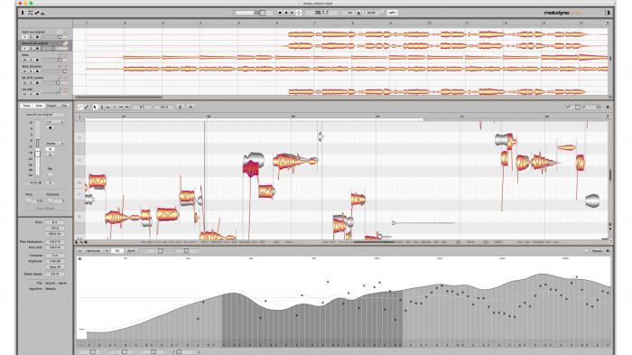 Melodyne 4 editiert Obertöne von mehrstimmigen Audio-Aufnahmen