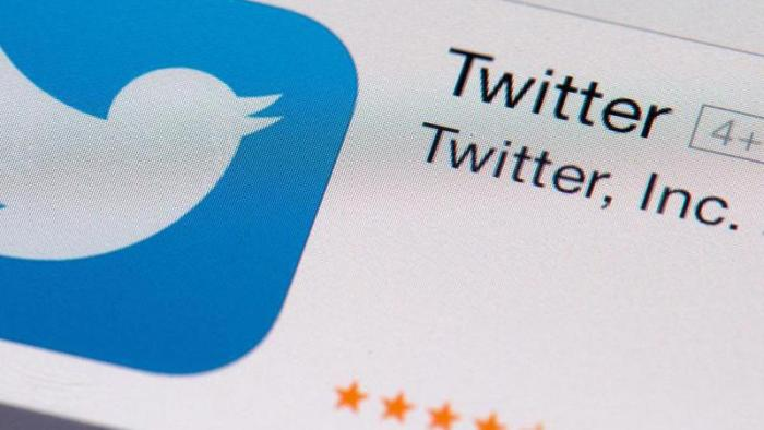 Twitter, Inc., Schriftzug mit Logo