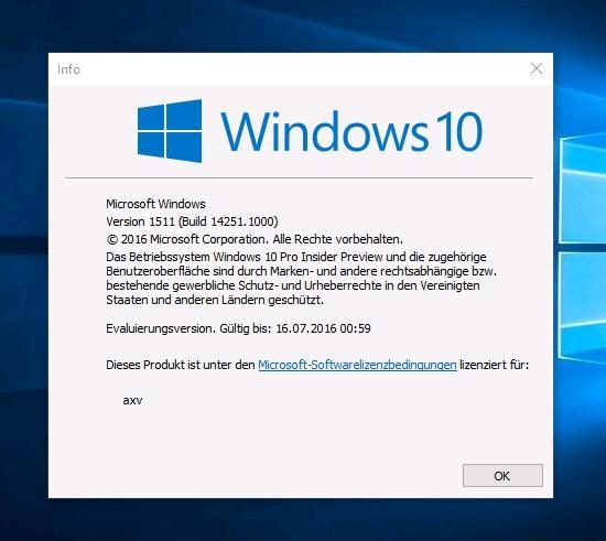 Neue Windows-10-Vorabversion macht großen Versionssprung