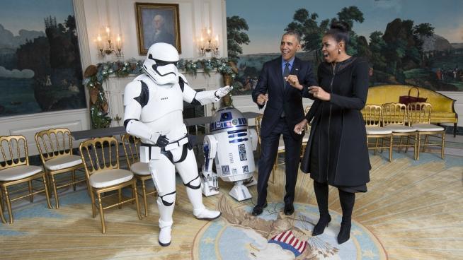 Stormtrooper, R2-D2, Herr und Frau Obama