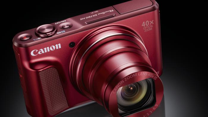 Kompakte Canon PowerShot SX720 HS mit 40fach-Zoom