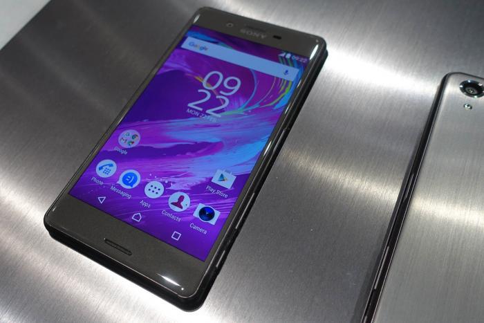 Sony Xperia X Performance mit Metallrückseite