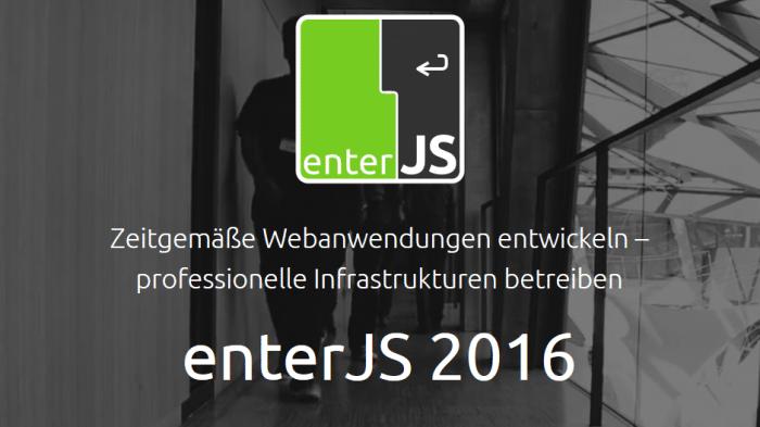 JavaScript: Registrierung für enterJS geöffnet