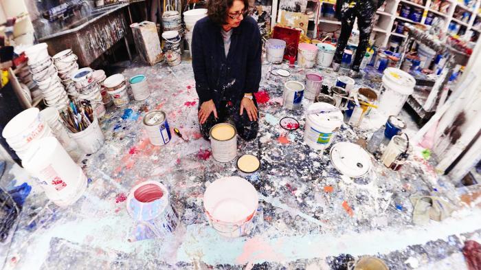 Fotografieren mit gemalten Annie Leibovitz-Backdrops