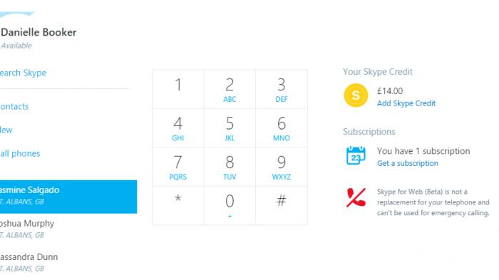 Updates für Skype for Web: Klassische Telefongespräche im Browser
