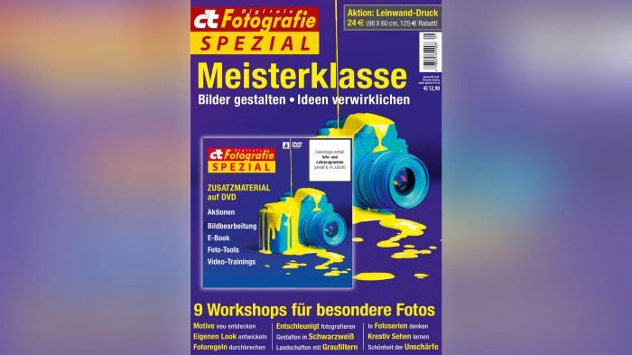 Ab sofort erhältlich: c't Fotografie Meisterklasse