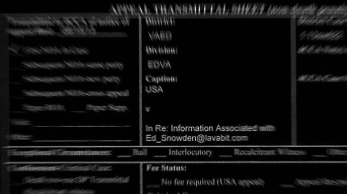 Schwärzung vergessen: Edward Snowden als Ziel des Angriffs auf Lavabit enthüllt