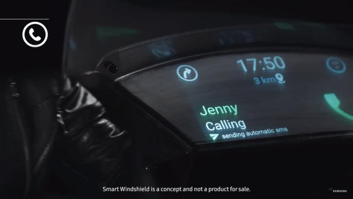 Samsung: Intelligenter Windschutz für Motorroller und Motorräder