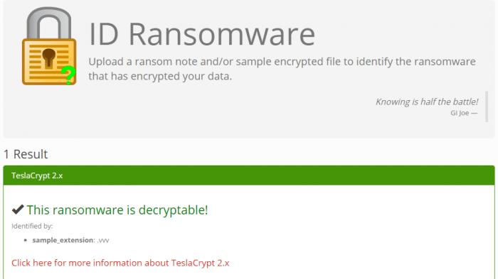 Entschlüsselungs-Tool verfügbar? Webseite identifiziert Erpressungs-Trojaner