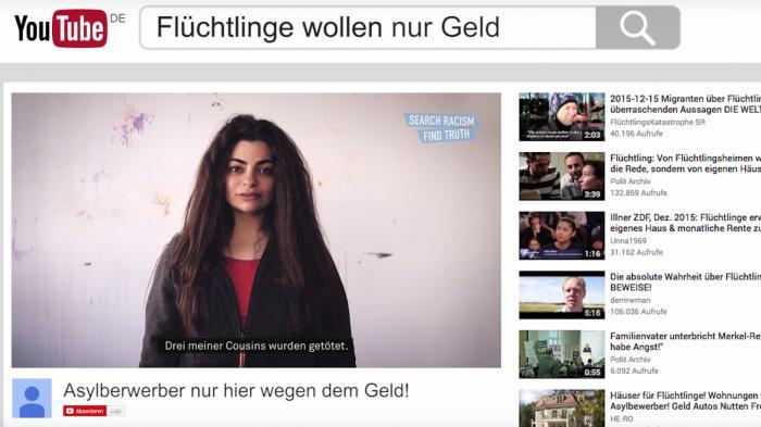 Online-Hetze: Werbeclips mit Flüchtlingen sollen rechte Online-Videos kontern