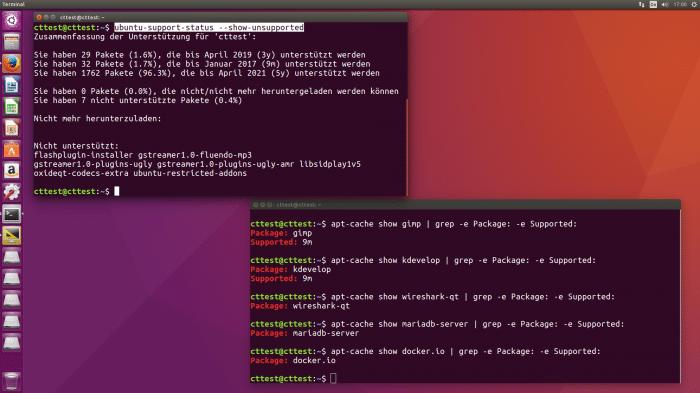 Ungepflegte Pakete in Ubuntu 16.04