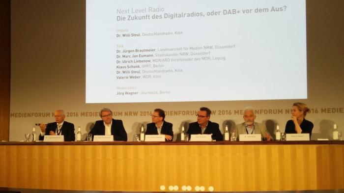 Die Diskutanten auf dem Medienforum NRW