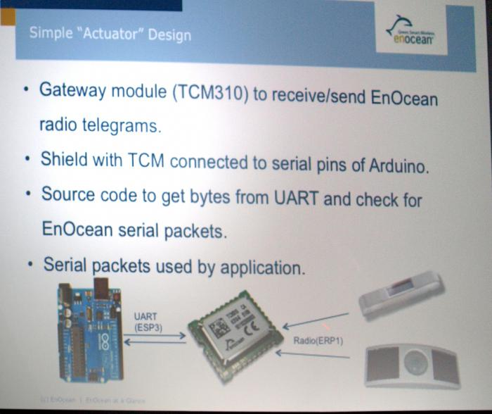 Ein serielles Modul macht den Arduino EnOcean-fit.