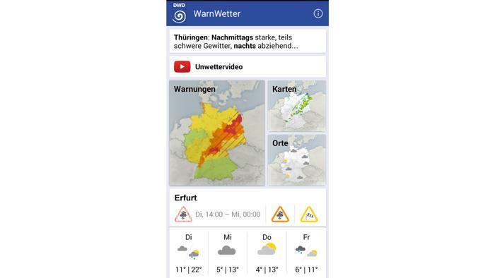 WarnWetter-App wird genauer