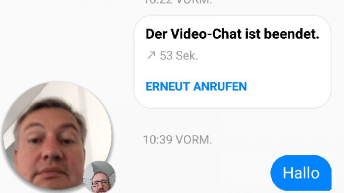 Facebooks Messenger überträgt Live-Video-Chats